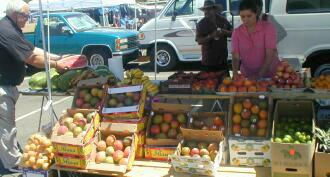 Farmers furit for sale at Victorville Market