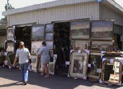 Pictues for sale at Ontario, California open air market swap meet flea market